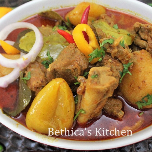 How to make Peanut Mutton Curry