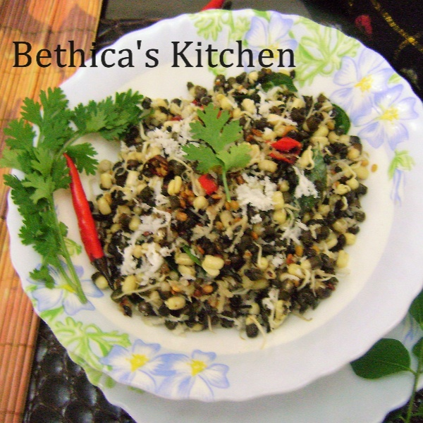 Photo of Whole Black Gram Sprouts Sundal by Bethica Das at BetterButter