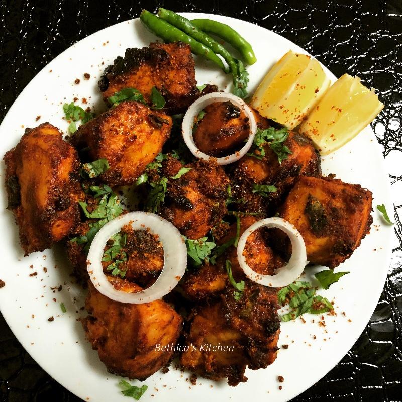 How to make Grilled Podi / Gunpowder Chicken
