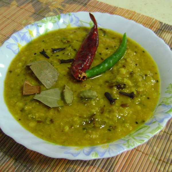 How to make Tetor Dal (Bitter Gourd - Green Gram Lentil Curry - Bengali Style)