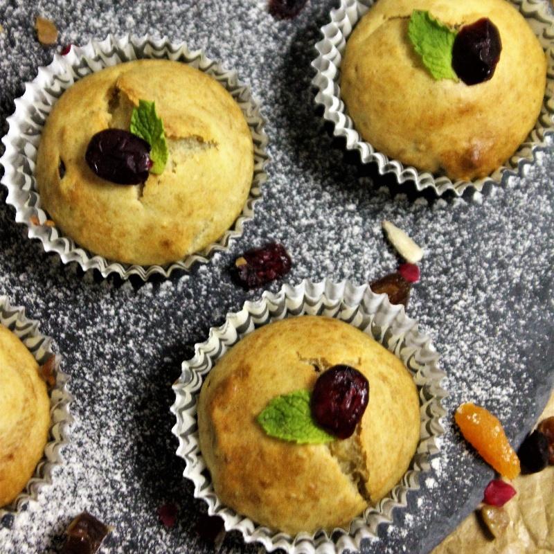 How to make Banana Dry Fruits Muffins