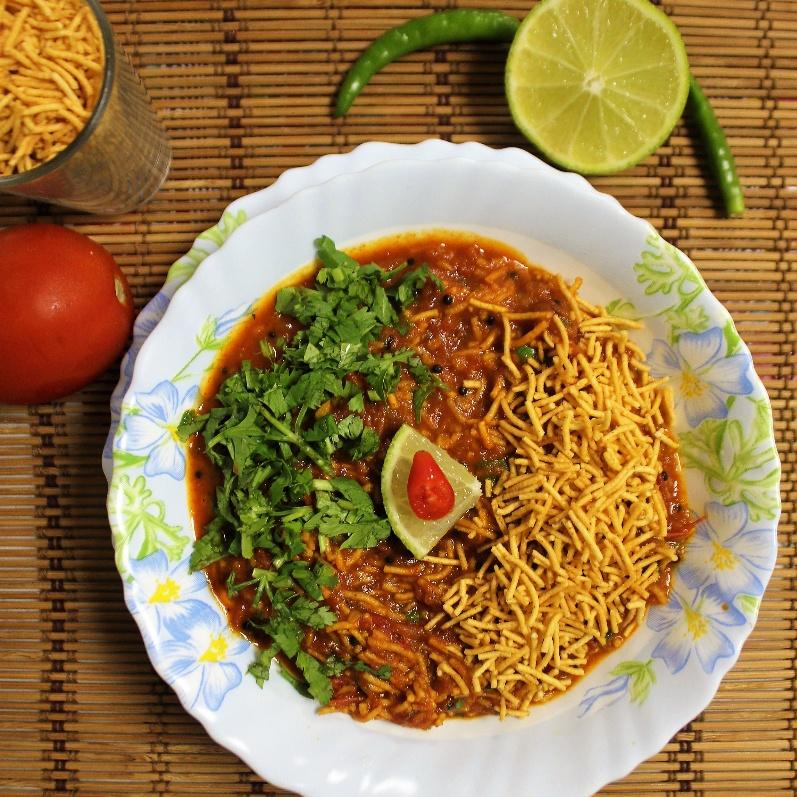 How to make Sev Tameta Nu Shaak - Gujarati Style