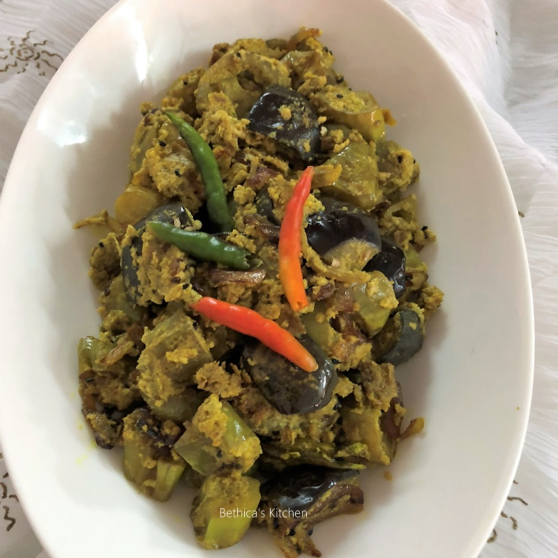 Photo of Begun Posto (Eggplants in Poppy Seeds Gravy - Bengali Style) by Bethica Das at BetterButter