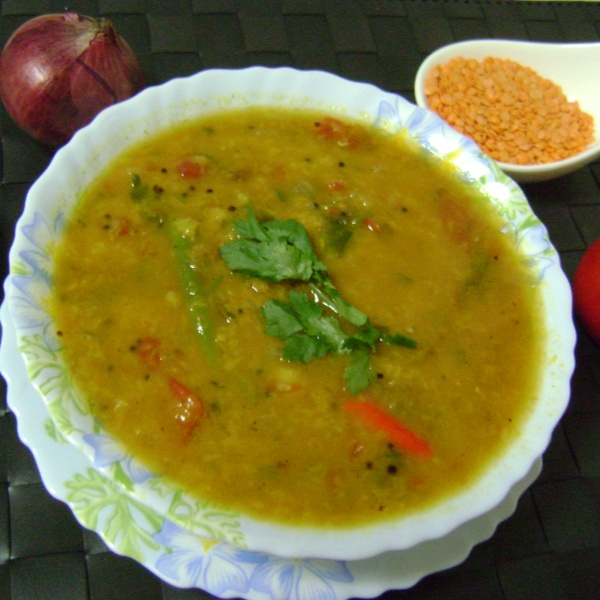 How to make Tomato Masoor Dal - Bengali Style