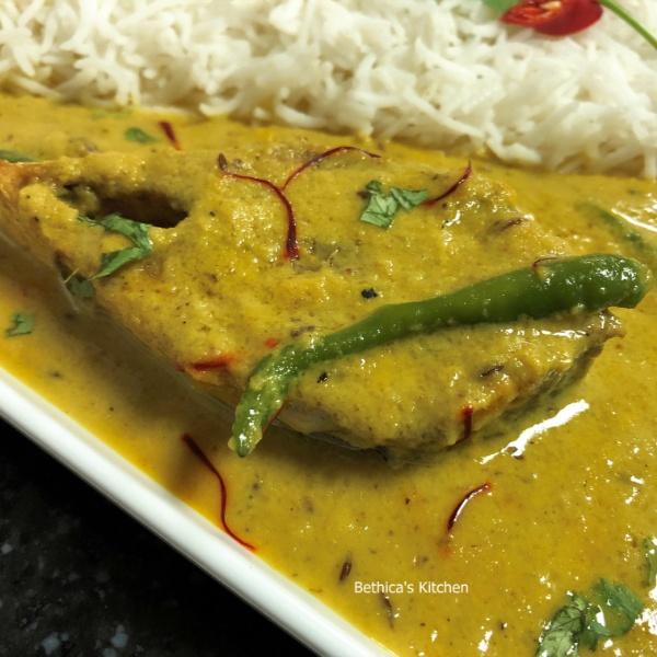 How to make Zafrani Ilish  (Hilsa Fish Curry - Bengali Style)