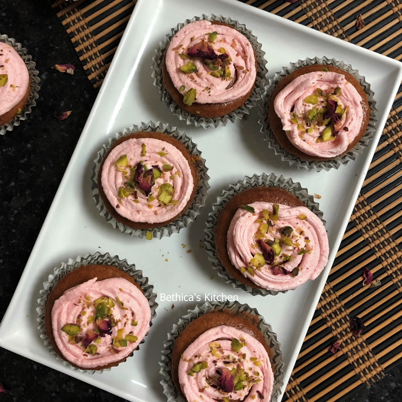 Photo of Gulkand Cupcakes by Bethica Das at BetterButter