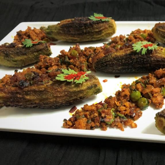 How to make Bharwan Keema Karela