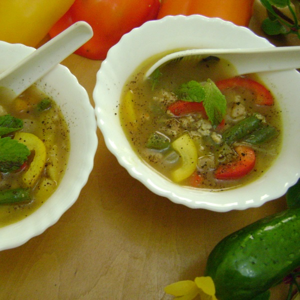 Photo of Lemony Chicken & Bell Pepper Soup by Bethica Das at BetterButter