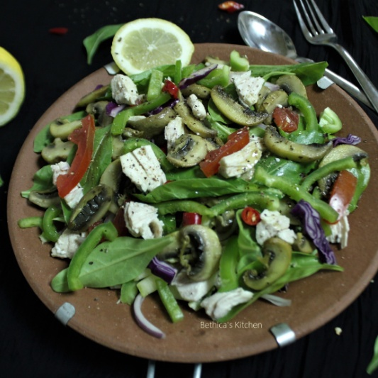 Photo of Chicken & Veggie Salad by Bethica Das at BetterButter