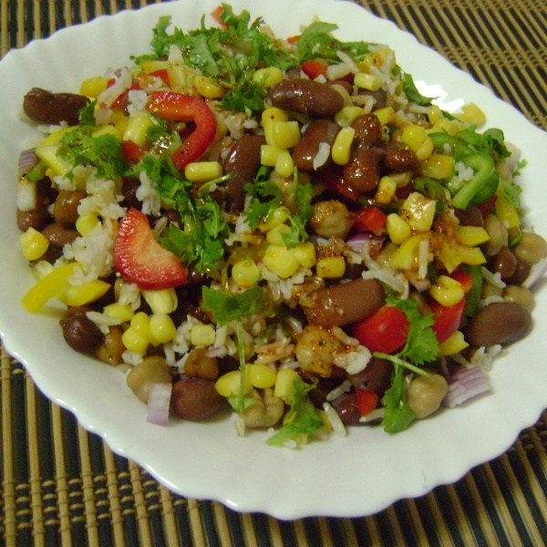 How to make Mexican Bean Salad with Brown Rice & Bell Peppers