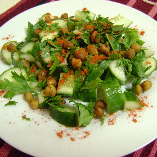 Photo of Cucumber Salad with Chickpeas & Parsley by Bethica Das at BetterButter