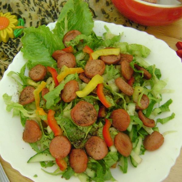 Photo of Veggie Salad with Sausages by Bethica Das at BetterButter