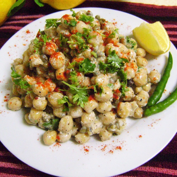 Photo of Chickpeas & Sprouts Salad with Yoghurt Dressing by Bethica Das at BetterButter