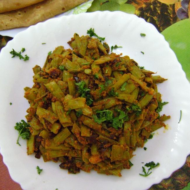 How to make Gawar Chi Bhaji