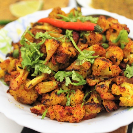 Photo of Spicy Aloo Gobhi Matar Stir Fry by Bethica Das at BetterButter