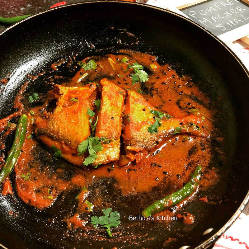 How to make Pomfret Macher Jhal (Bengali Style Fish Curry)