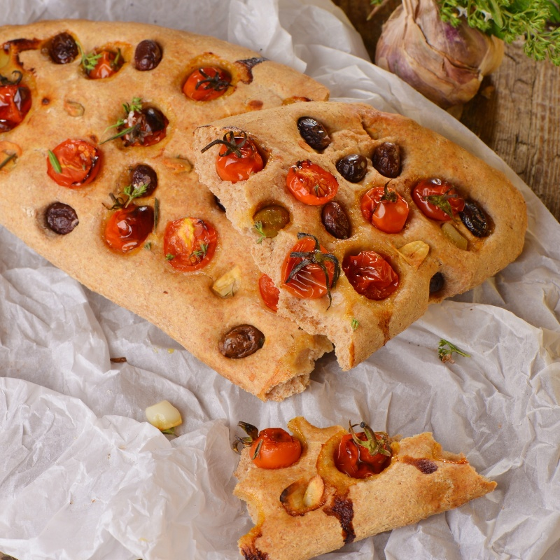 Photo of Tomato and Olive Focaccia by BetterButter Editorial at BetterButter