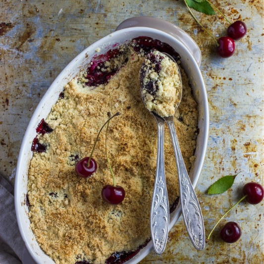 Photo of Cherry Crumble by BetterButter Editorial at BetterButter