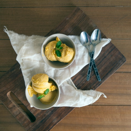 Photo of Eggless Mango Banana Icecream by BetterButter Editorial at BetterButter