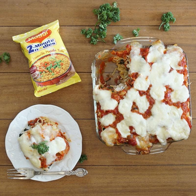 How to make Maggi noodles Spinach and Mushroom Lasagna