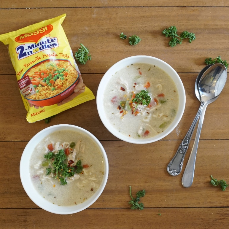 How to make Chicken and Maggi noodle Soup