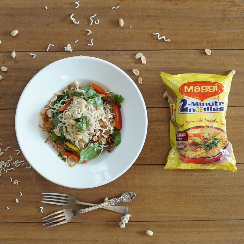 How to make Thai Style Maggi Noodles Salad