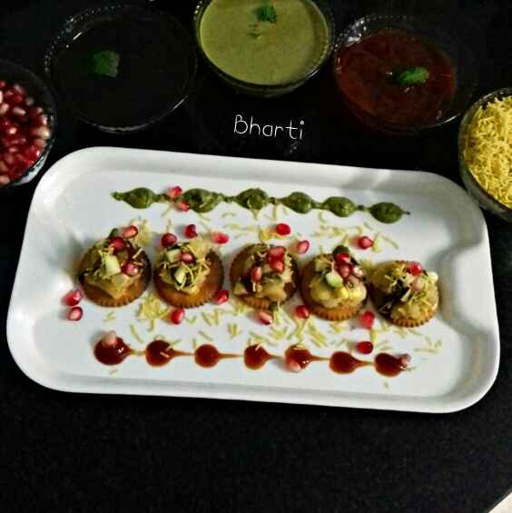 Photo of Biscuit Corn Sev Puri Chaat by Bharti Khatri at BetterButter