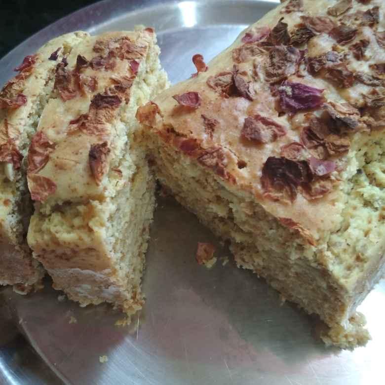 How to make गुलकंद केक