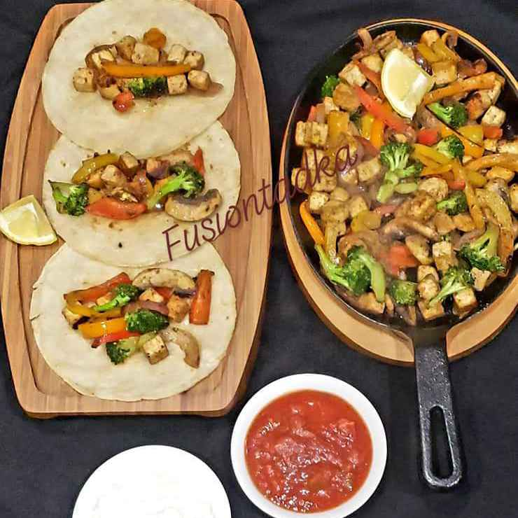 Photo of Mexican fajitas with  veggie and tofu by Bhavisha Talati at BetterButter