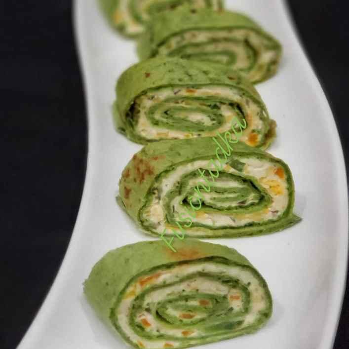 Photo of Spinach tortilla pinwheel by Bhavisha Talati at BetterButter