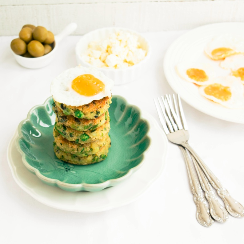 Photo of Potato, Pea and Mint Fritters with Quail Eggs by Bhavita Singh at BetterButter