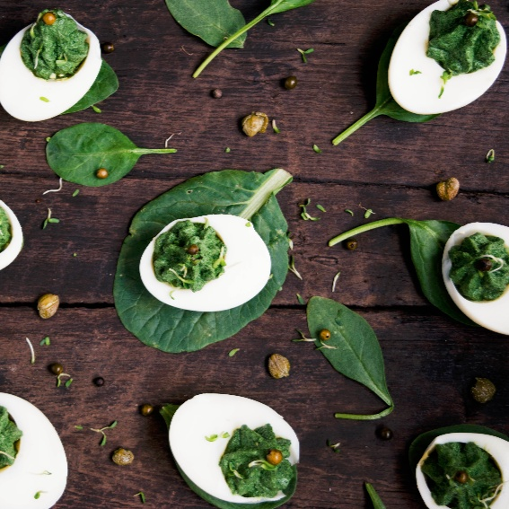 How to make Green Deviled Eggs
