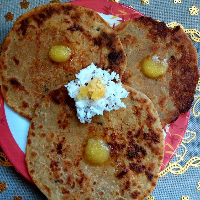 Photo of Coconut stuffed puranpoli by Bhavna Thaker at BetterButter
