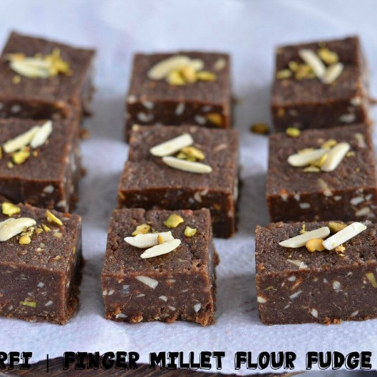 How to make Nachni Barfi With Peanut Butter Recipe | Finger Millet Flour Fudge | Indian Festive sweet