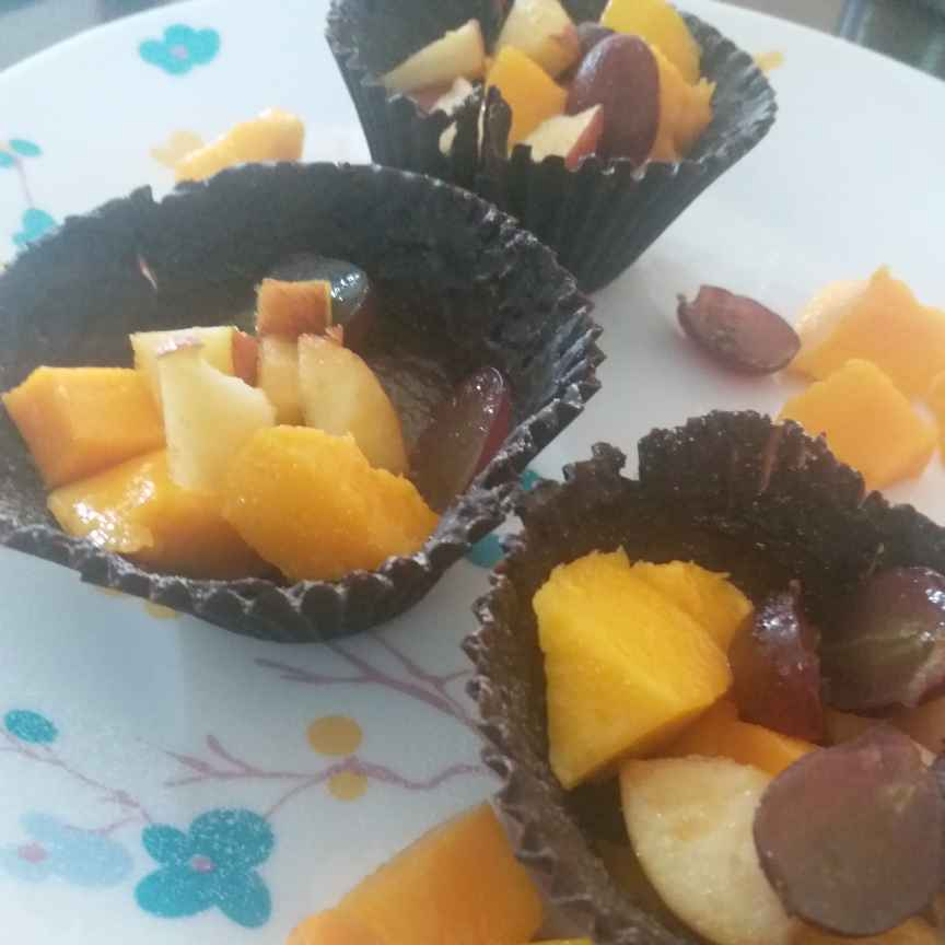 Photo of Choclate fruit cup  by Bhumika Gandhi at BetterButter