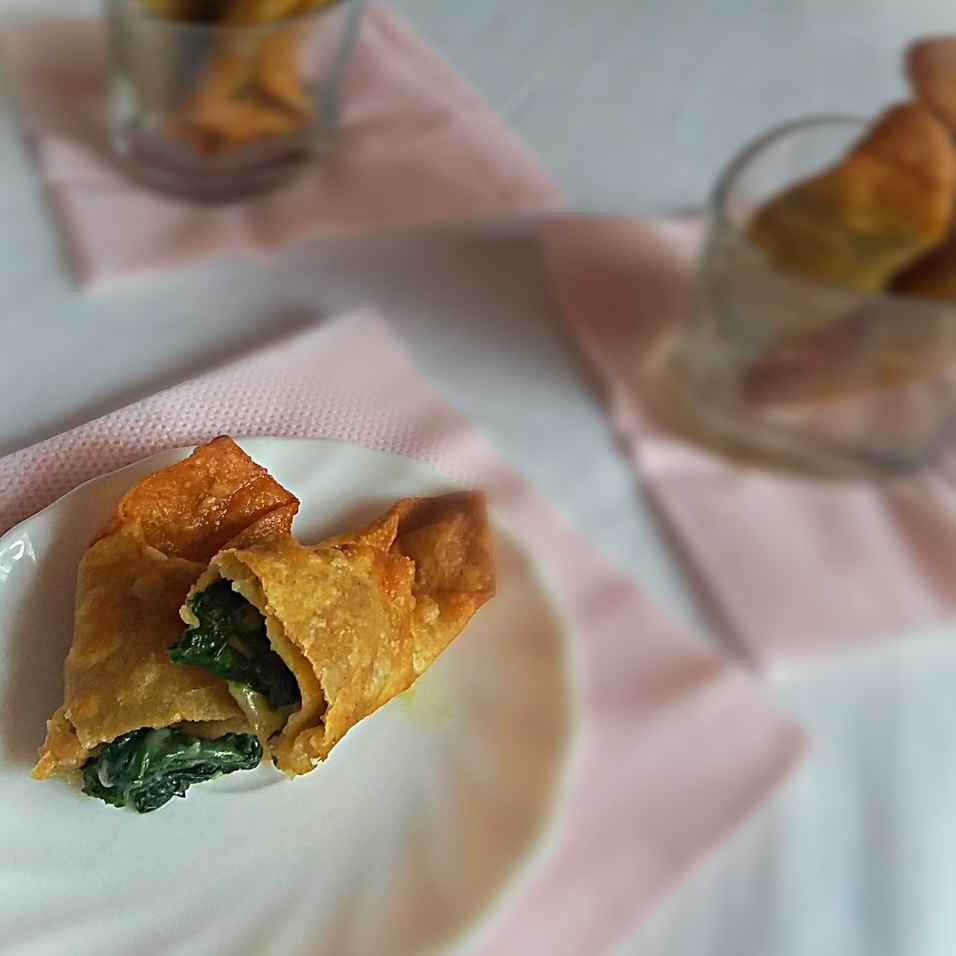 How to make Spinach cheese cigar