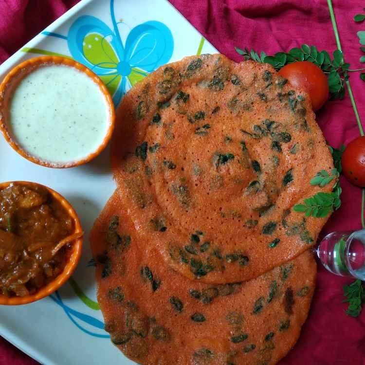 Photo of Tomato moringa dosai by Bhuvana Selvaraj at BetterButter