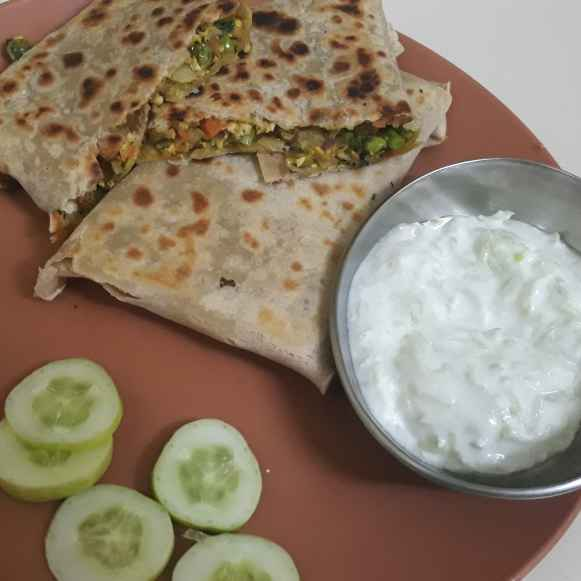 Photo of Veg Mughlai paratha by Bijal Thaker at BetterButter