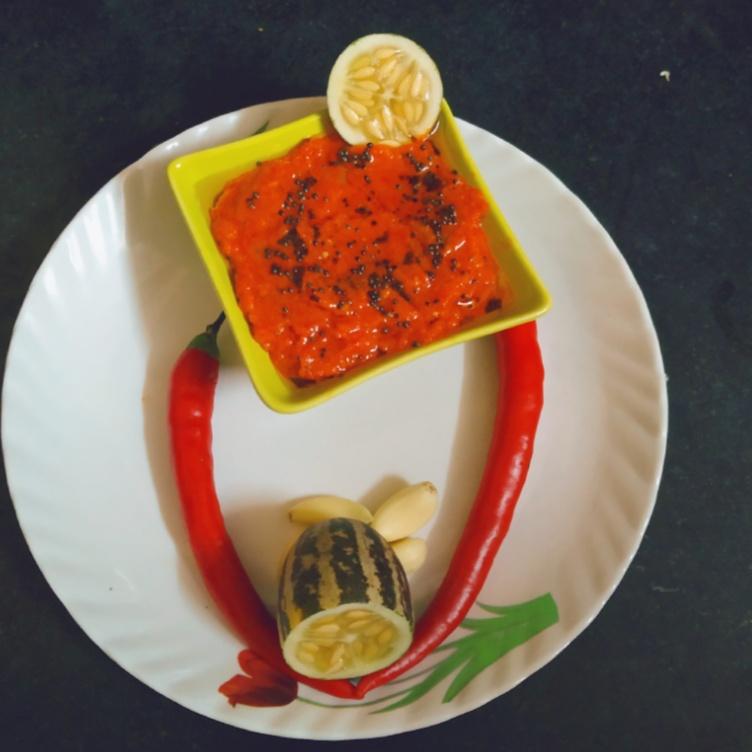 Photo of Red Chilli chutney by Bindiya Bhagnani at BetterButter
