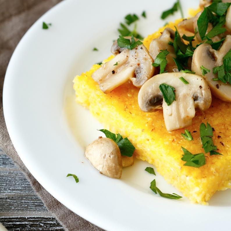 How to make Cheesy Polenta with Sauteed Mushrooms