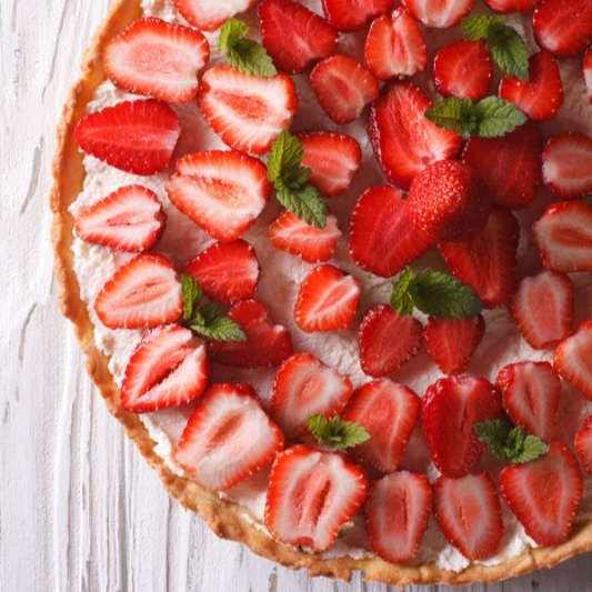 Photo of Fresh Strawberry Cheesecake Tart by Bindiya Sharma at BetterButter