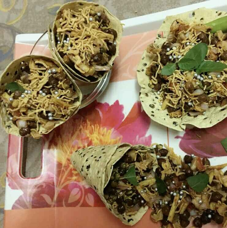 How to make cone papad chat