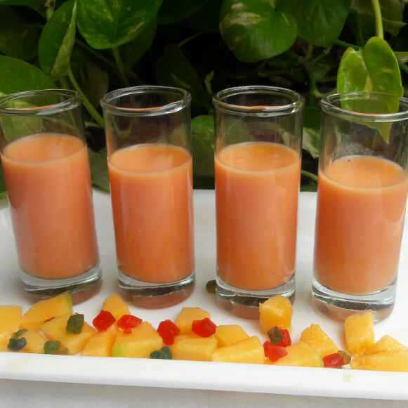 How to make Muskmelon Lassi Shots