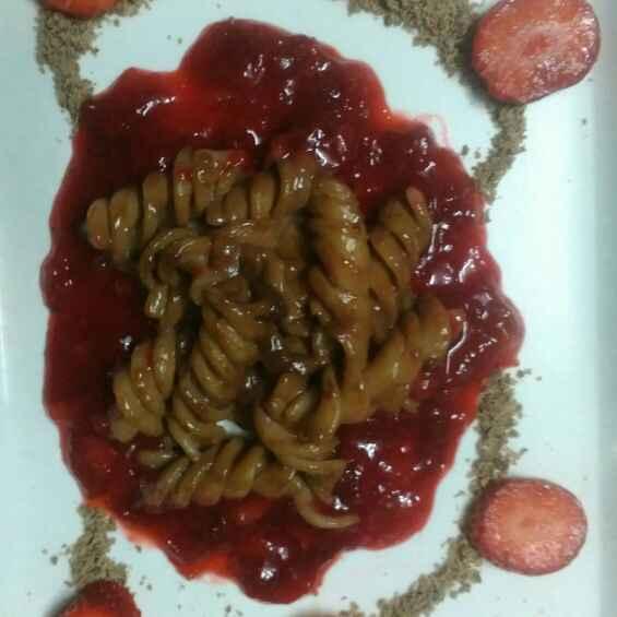 How to make Chocolaty Pasta in Strawberry Sauce