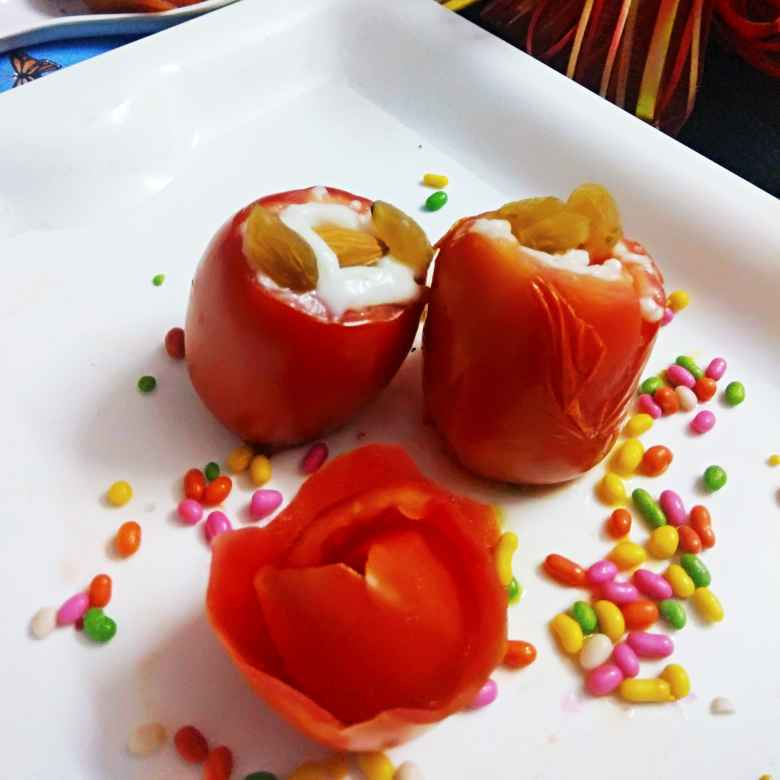 How to make Baked Tomatoes with Rabdi