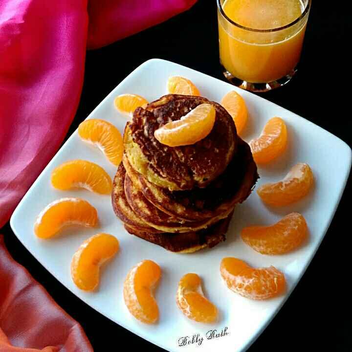 How to make Cottage cheese orange pancake