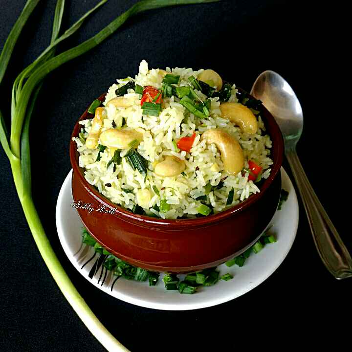 Photo of Winter fresh green garlic pulao by Bobly Rath at BetterButter