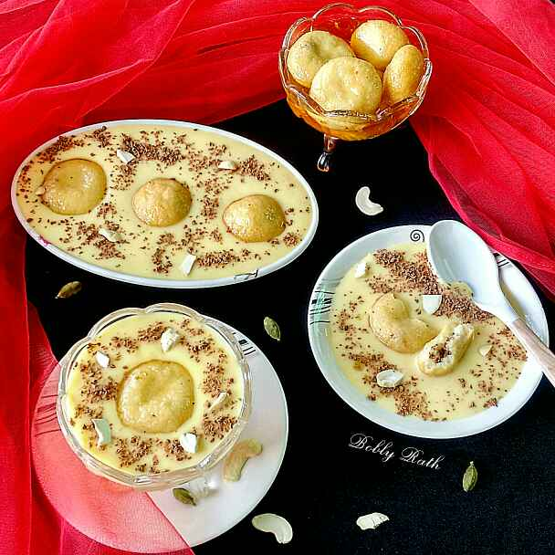 Photo of Choco filled rasgulla custard by Bobly Rath at BetterButter