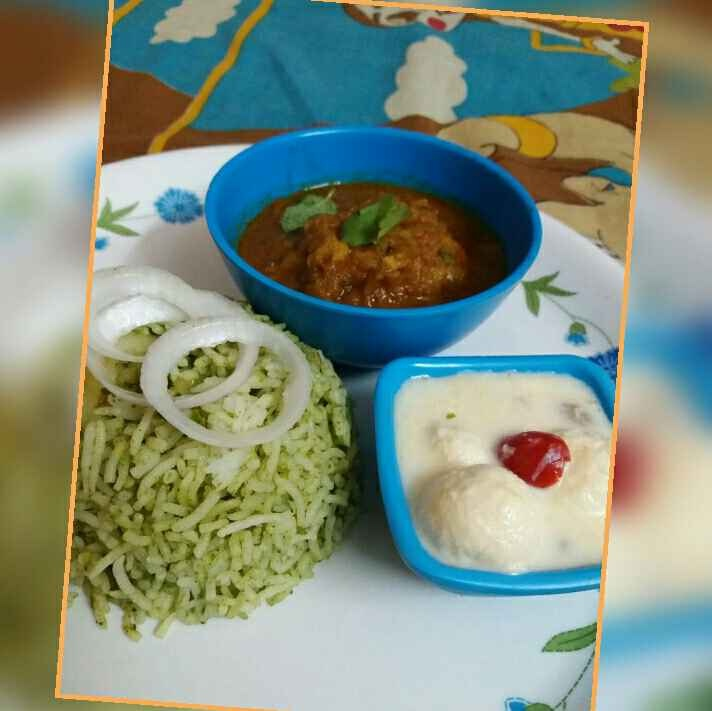 How to make Green chutney Potato rice