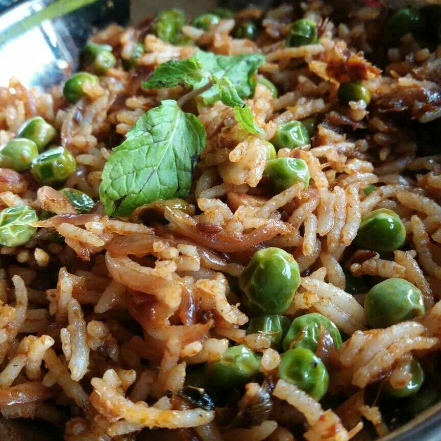 How to make Peas Pulav...